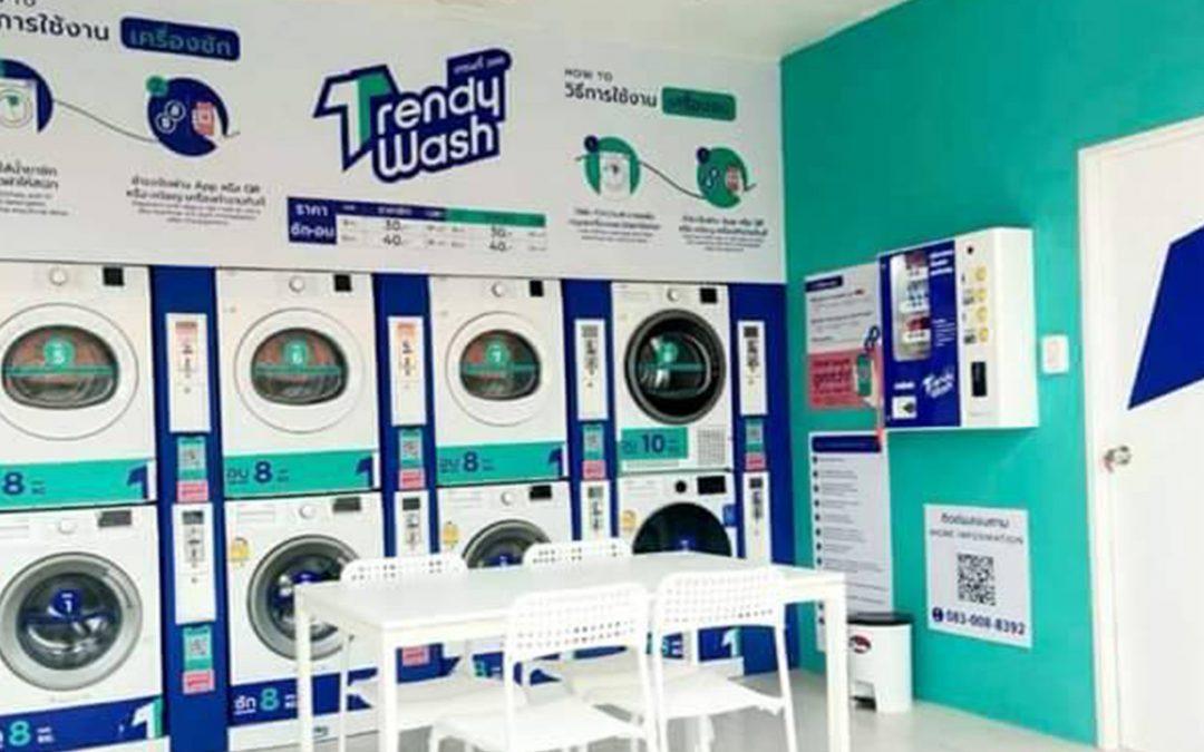 เปิดแล้วแฟรนไชส์ร้านสะดวกซัก Trendy Wash สาขา โรจนะ อยุธยา